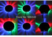 Sunflower led light,8W 90-240V,dip Rotating RGB Light 48 LEDs Sun flower LED Stage Light,4 Xmas,for christmas led Free Shipping