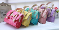 2014 New Women bag Children Princess Handbags  printing  bowknot  Girls' Messenger Bag Shoulder Bags