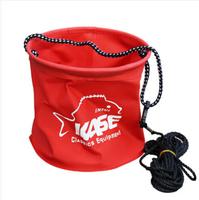 2014 new hot 1pc Folding EVA fishing bucket folding bucket water tank fish bucket fish bag fish tank 18cm