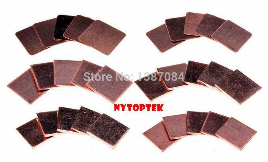 1.0MM Heatsink Copper Shim Thermal Pads for Laptop GPU CPU X5PCS(China (Mainland))