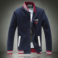 Plus Size M-5XL 2014 new winter men's casual jackets Fashion Baseball collar design Men's woolen jacket High quality Man coat