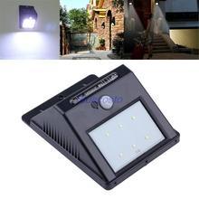 New arrival Solar  6-LED PIR Motion Sensor HOME Garden Yard Street Light Lamp Waterproof Energy-saving Wall lights(China (Mainland))