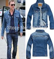MC003 Fashion Single Breasted Male Cowboy Jacket Leisure Slim Man Coat Vintage Autumn Free Shipping Men Denim Jacket