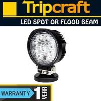 27W LED WORK LIGHT Spot  FLOOD BEAM OFFROADS LAMP LIGHT BOAT TRUCK 12V 24V 4WD 4x4