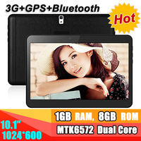 Super cheap 3g tablet pc 10 inch 1024x600 1G RAM 8G ROM with gps dual sim card dual camera bluetooth can interpolated 2G and 16G