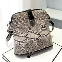 Hot Selling Snakeskin Design Small Winter Women bag Fashion Leather Handbags Shoulder Bags All match Women's  Messenger Bags