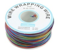 P/N B-30-1000 200M 30AWG 8-Wire Colored Insulation Test Wrapping Cable-Free shipping by DHL