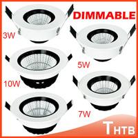 3W/5W/7W/10W LED COB Ceiling Cool White/Warm White LED Down Light downlight lamp bulb