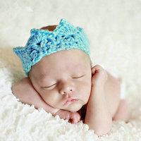 Wholosale Handmade Crochet Baby Crown Headband for Photo Prop Stretch Crochet Knit Headband Newborn Infant Crown headwear