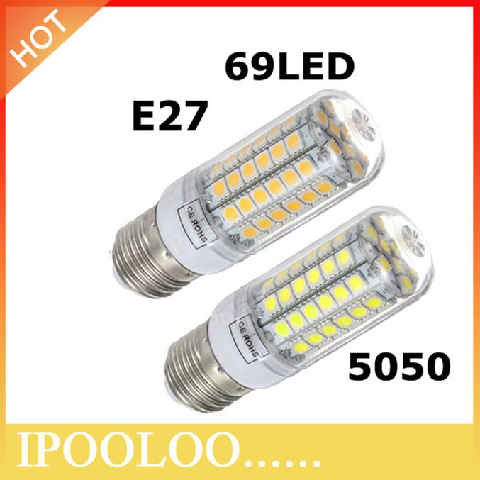 Hot sale 69LED SMD 5050 15W E27 LED Corn Bulb Lamp AC220V Warm White/Cold White LED Lighting(China (Mainland))