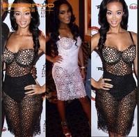 Perspective dress sexy nightclub lace bandage dress