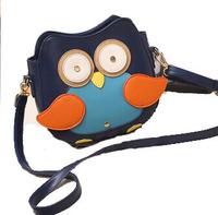 Promotion New Women Ladies Retro cartoon zipper Shoulder Bag Fashion Messenger Bags Cute School Tote Owl Fox PU Handbags 2014