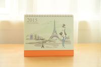 New 2015  calendar Eiffel Tower / Desktop program this / 2015 Calendar   3817   0.33kg