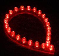 2Pcs 24cm 24 LEDs Flexible Waterproof PVC Light Strip Red 12V
