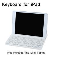 White Wireless Keyboard Ultra Slim Aluminum Magnetic Bluetooth Wireless Keyboard Keypad for iPad mini Tablet