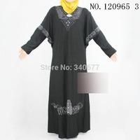 2014 New Beads and Rhinestone Design ITY Material Muslim Clothing,Islamic Abaya,Fashion Arabic Jilbab For WomenFree Shipping