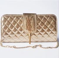 Quality Women PU Leather Handbag Shiny Design Women Chain Clutch New Arrival Shoulder Bag Trendy Candy Women Handbag 6 Colors