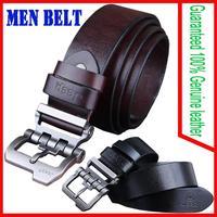 Men belts Guaranteed 100% Genuine leather cowhide vintage needle buckle belt for men factory direct sale