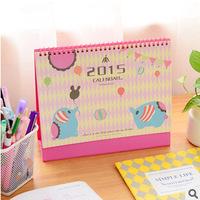 New 2015 cute little elephant balloon joy  2015 Desktop Calendar     17990   0.07kg