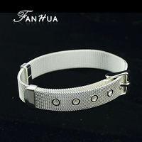 Adjustable Wristband Silver Bracelets Pulseiras de prata 18KGP Jewelry Pulseras Mujer for Women Wholesale