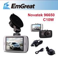 "Novatek 96650 C10W Car DVR Camera +8G SD Card 3.0"" LCD Camcorders 170 Degree Camera Para Carro Car Video Vehicle Camera De Carro"