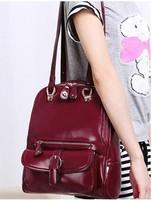 2014 Fashion Bolsas Femininas PU Leather Backpacks Shoulder Bags for Women Large Capacity Schoolbags for Girls Travel Mochila