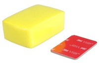 Free shipping Yellow Waterproof Foam Floaty with 3M Adhesive Tape for GoPro HD 2 3 3+ 3plus SJ4000