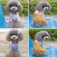 Cute Pet Dog Cat Clothing Prince Tuxedo Bow Suit Puppy Apparel Jumpsuit Coat