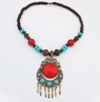 vintage metal necklace choker for women jewellery new 2014 fashion statement necklaces wholesale