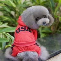 Small Dog Cat Pet Hoodie Apparel Clothes Sweatshirt Warm Coat Jumpsuit S-XL