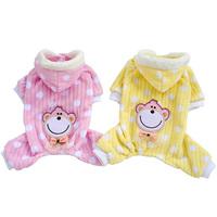 Pet Puppy Dog Winter Warm Coat Monkey Soft Hoodie Jumpsuit Pajamas Apparel