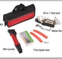 2014 new bike tool 16 in 1 combination toiletry kit mountain bike bicycle combination repair tool