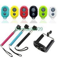 PINK Selfie Handheld Monopod Stick+Holder+Bluetooth Wireless Romote for Phone Samsung