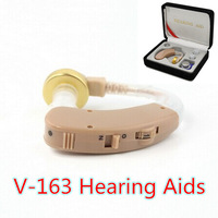 20pcs New arrival V-163 Best Sound Amplifier Adjustable Tone Hearing Aids Aid Sound Amplifier Ear Assistant For Older Man