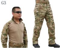 Emerson bdu G3 Combat uniform shirt & Pants & knee pads Military Army uniform MultiCam Suit CP