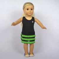 """Free shipping!! Doll Clothes fit for 18"""" American Girl Dolls,vest & skirt, 2pcs, girl birthday present,  gift, A09"""