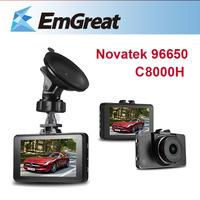 "HOT Car DVR Camera Novatek 96650 C8000H + 8G SD Card 3.0"" LCD Camera Para Carro Car Video Vehicle Camera De Carro"