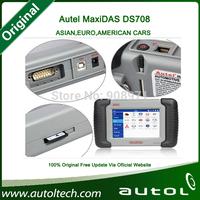 AUTEL Original Autel MaxiDAS DS708 Automotive Diagnostic Scanner DS 708 For Sale Free Update Online Multi-Language Fast Shipping