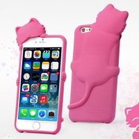 2014 New For iPhone 6 Silcone Case , HelloDeere Stogdill Diffie Cat Silicone Case Cover for iPhone 6