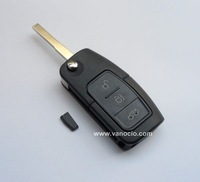 for Ford Focus 3 button remote 4D ID63 transponder key 434mhz