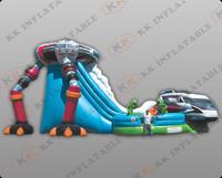 new robot commercial inflatable slide,gaint inflatable slide KKDS-L012