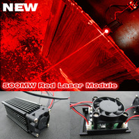 638nm 635nm 500mW red laser module ,laser module with TTL modulation free shipping