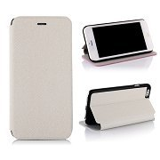 Free Shipping White Cowboy Cloth Texture Flip Stand Leather Case For iPhone 6