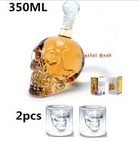 Doomed Crystal Head Vodka Shot Skull Sets(350ml for Skull Bottle&75ml for Skull Shot Glass Mug ),Free Shipping