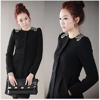 2014 autumn and winter woolen outerwear women's autumn cloak trench long-sleeve slim wool coat female