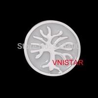 Free airmail! 60pcs of  Vnistar Floating locket charms, single sided enamel charm, life tree charm, sold individually