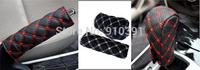 Microfiber leather car handbrake grip hand brake cover sleeve handlebar cover gear shift lever collar as car interior accessory