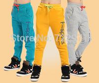 2014 boys Korean thick  winter pants children  pure cotton fleece pants  trousers kids' leggings sports pants children clothing