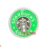 Free airmail! 60pcs of  Vnistar Floating charms, locket STARBUCKS COFFEE charm, logo charm, sold individually