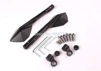 High Quality  Aluminum CNC mirror Italy design Universal For all motorcycles Kawasaki-Suzuki-Honda-Yamaha  Black color